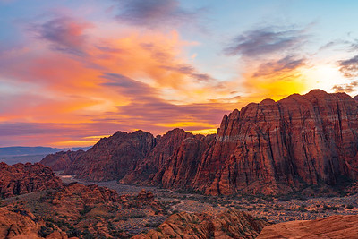 Sunset Over the Walls of Snow Canyon State Park