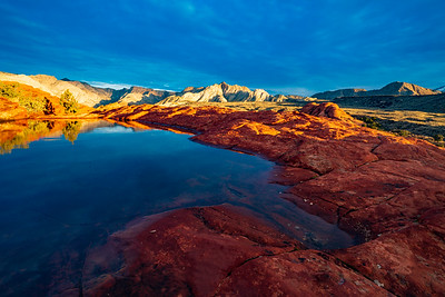 Sunrise on Sandstone in Snow Canyon State Park