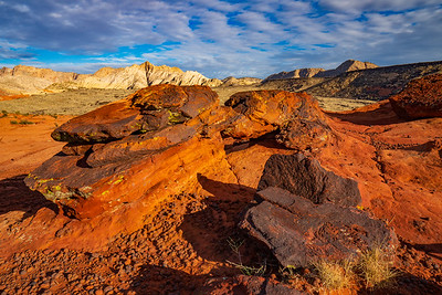 Volcanic Cape on the Petrified Sand Dunes of Snow Canyon State Park
