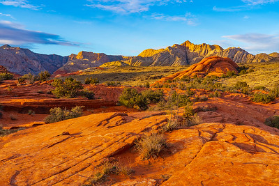Last Light on the Sandstone of Snow Canyon State Park