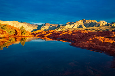 Reflections of Sunrise in Snow Canyon State Park