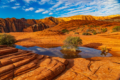 Clouds Over Sandstone in Snow Canyon State Park