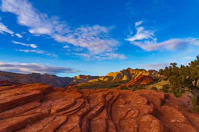 Clouds and Sandstone at Snow Canyon State Park