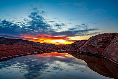 The Sun Rises Over Snow Canyon State Park