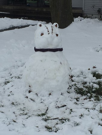 My daughter made a chipmunk snowman!<br /> Submitted by Jason Austin
