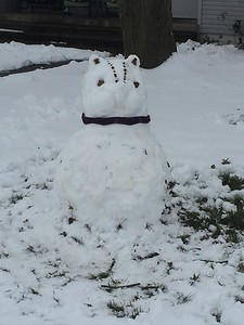 My daughter made a chipmunk snowman! Submitted by Jason Austin