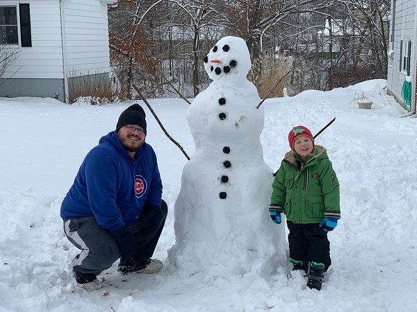 Kael Rewers with son James, 4.<br /> Submitted by Meghan Rewers