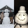 Snowman made by Ryan Armstrong and Abbey Meinhart.<br /> Submitted by Abbey Meinhart