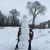 Never too old to build a snowman too tall.<br /> Submitted by Jade Heiserman