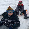 Landon Wallace and K.J. Kellams are four-wheeler sledding at Lake Sara.<br /> Submitted by Michelle Wallace
