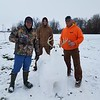 Snow deer with Brad Ruholl, Chris Ruholl and Joe Galloway in Toledo.<br /> <br /> Submitted by Carrie Ruholl