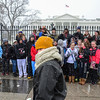 Snow, Washington DC, January 21, 2014<br /> Pro-life demonstration, White House