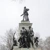 Snow, Washington DC, January 21, 2014<br /> Lafayette statue, Lafayette Park
