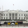 Snow, Washington DC, January 21, 2014<br /> White House, protests