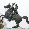 Snow, Washington DC, January 21, 2014<br /> Andrew Jackson statue