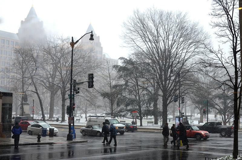 Snow, Washington DC, January 21, 2014<br /> Franklin Square