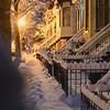St Patrick's Day snow storm, Logan Circle Historic District, Washington DC, March 17 2014