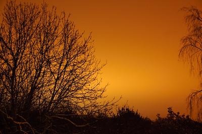 Snow - Dec 2010 (20) The orange sky following the snow.