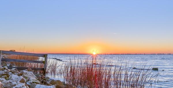 Sunrise at Frozen Point...unfortunately no cloud cover