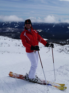 Me at the top of Cascade Express... Happy skier!