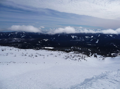 View from Cascade Express (highest chair at Meadows).