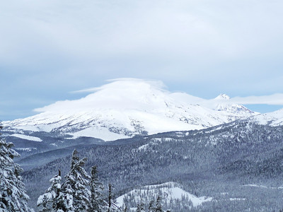 Lenticular cloud over the South Sister.