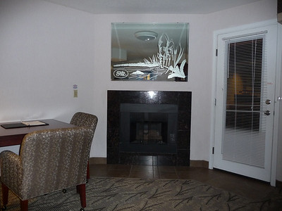 Our room at the Shilo Inn in Bend located on the Des Chutes river.