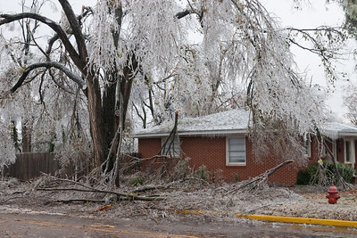 A crippling ice storm devastates the city of Norman, OK, on December 10, 2007. This storm resulted in week-long power outages for many, and the cleanup lasted well over a month.