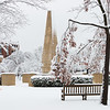 A winter wonderland on the OU campus in Norman, OK, on New Year's Day 2021.