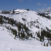 the Chair 6, with sunshine, even the upper part of run is getting soften