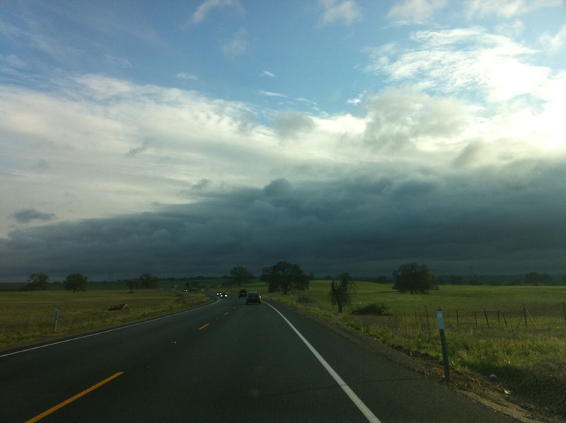 driving into storm..