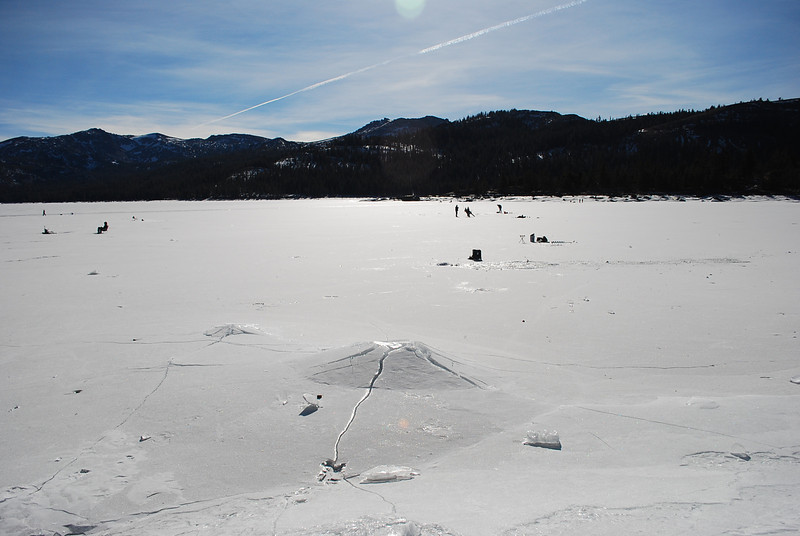 Caples lake.   left kirkwood at 12 noon time.
