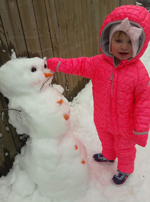. Snowman time. Submitted by Danielle McCaulley.