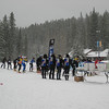 Start of the race - XC ski leg
