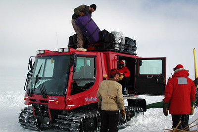 SOUTH POLE, ANTARCTICA: Another round of packing, squeezing, stuffing and craming, just like any car camping trip, to get all our gear loaded up and back to the station.
