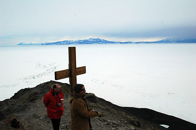 MCMURDO STATION, ANTARCTICA: Looking away from McMurdo from Observation Hill