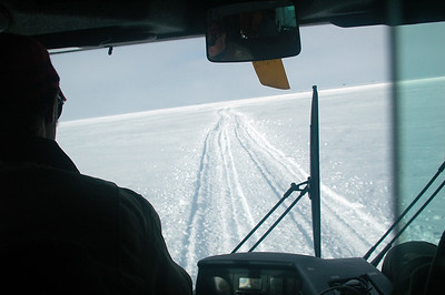SOUTH POLE, ANTARCTICA: The ride back is rocky like being on a boat even as we keep on the existing tracks.