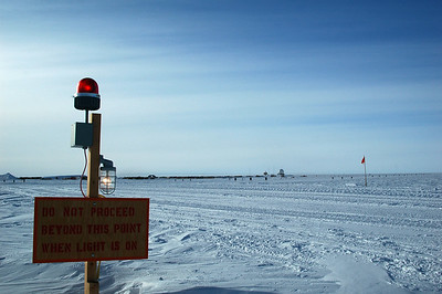 SOUTH POLE STATION, ANTARCTICA: The light is on, the aircraft is coming, we're waiting.