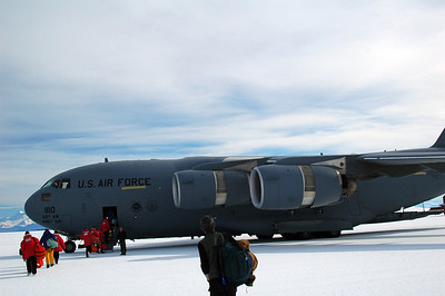 MCMURDO STATION, ANTARCTICA: ALL ABOARD! Next stop: Christchurch, New Zealand.