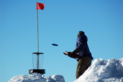 SOUTH POLE STATION, ANTARCTICA: Jason gets a little closer and makes a bid to finish the hole.