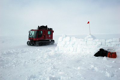 SOUTH POLE, ANTARCTICA: Around 9.30 AM our ride shows up from the station.