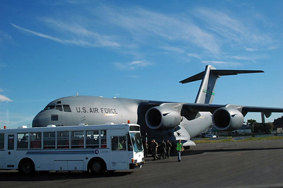 CHRISTCHURCH, NEW ZEALAND: Here's our ride to the ice! The US Air Force C-17 Globemaster III