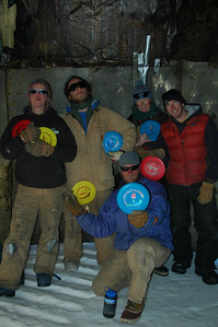 SOUTH POLE STATION, ANTARCTICA: The Team (l. to r.): Adrianne, Matt, Jason, Kara and Chuck