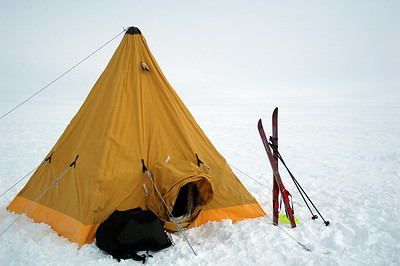 SOUTH POLE, ANTARCTICA: Ah, home sweet home. But now it's time to start packing it up.