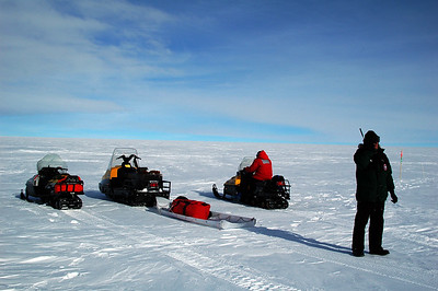 SOUTH POLE STATION, ANTARCTICA: Top of the hour again and Kris calls in under sunny skies that all is well.