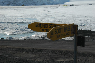 MCMURDO STATION, ANTARCTICA: It's a big continent... one could get lost on the one road that goes along the way.