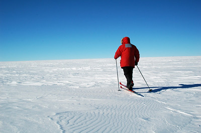 SOUTH POLE, ANTARCTICA: Except Chris and I who opted to ski out to camp.