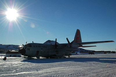 MCMURDO STATION: ANTARCTICA, Another trip in Ivan the Terrabus takes us back out to the skiway and we trade our large C-17 for a prop driven LC-130 for our 3 hour flight to the pole.