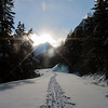 <b>18 Jan 2011</b> Our trail through the snow