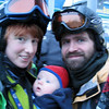 <b>15 Jan 2011</b> Family shot - in the queue for the gondola